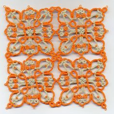 Square Motif 2015 .... 4 motifs joined together. Free pattern by Jane Eborall...... Tatting and not a lot else!: We're all square together ....... *p*