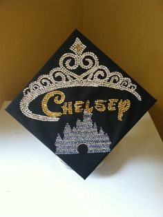 The Rhinestone Lady has just finished this graduation cap for a very good friend who is a Disney Princess fanatic!! It's that time of year!!
