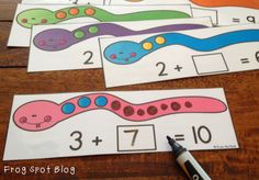 COMBINATIONS: Frog Spot: Snake Addition and Friends of Ten Freebie