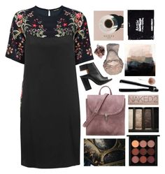 """""""Untitled #2546"""" by tacoxcat ❤ liked on Polyvore featuring Roberto Cavalli, Boutique, Maison Margiela, MAC Cosmetics, T3, Accessorize, Urban Decay and Prada"""