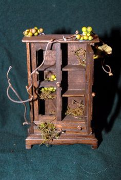 Magical miniature Fairy armoire or pantry for your Dollhouse or Garden 1/12 scale. 35.00