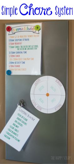 Simple Chore System with printables at www.thehappyscraps.com