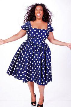 polka dots 2015 fashion large women - Google Search
