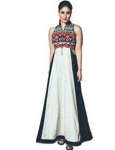 Stylish Diva Kareena Kapoor Khan in Fabron Georgette Embroidered Sleeveless Kurti #Fabron #KareenaKapoor #Maxi