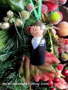 LDS Missionary Ornament Wooden Peg doll by minimoments on Etsy, $11.00