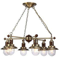 Подвесная люстра Arte Lamp Sailor A4524LM-6AB купить в интернет магазине. Цена, фото, отзывы, расценки, стоимость, скидки. Продажа и доставка по СПб - Санкт-Петербург, Москве и России. Прайс лист.