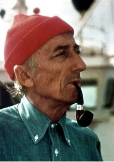 Jacques Cousteau smoking a Peterson pipe.