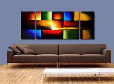 Modern abstract paintings on canvas. Untitled is a hand-painted artwork, created by the artist Osnat Tzadok. An online art gallery of modern paintings - artwork id Wood Wall Art Decor, Canvas Art Projects, Composition Art, Art Optical, Cottage Art, Modern Artwork, Modern Paintings, Commercial Art, Art Background