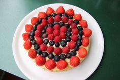 Erdbeer - Blaubeer - Himbeer Kuchen