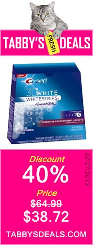 Crest 3d White Intensive Professional Effects Teeth Whitening Strips 7 Count $38.72