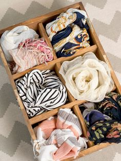 "Display a Collection ""What makes my house a home is having my favorite things on display,"" Ellie Ediger, of the blog Cheers to the Good Life, says. ""I like to showcase my scarves in a beautiful, wooden antique box, but you can do this with any collection you love. Personal touches like this make you feel more at home."""