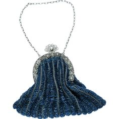Antique Hand-Stitched Beaded Purse in Excellent Condition -- found at www.rubylane.com #vintagebeginshere #mondayblues