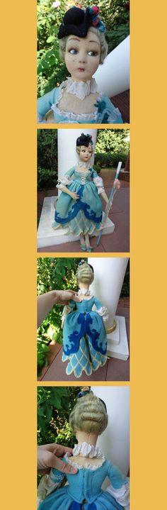 Schöne Alte Lenci Puppe Seltene Columbine C1920ER Lenci Boudoir Doll Columbina   eBay