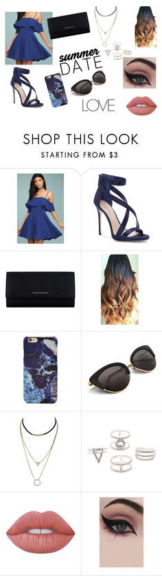 """""""Blue Moonlight"""" by rahi445 ❤ liked on Polyvore featuring LULUS, Imagine by Vince Camuto, Givenchy, Forever 21, Charlotte Russe, Lime Crime and Concrete Minerals"""