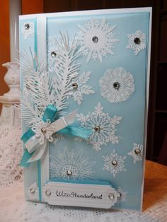 Christmas - Scrapbook.com  What a beautiful Christmas card or scrapbook exterior this is!