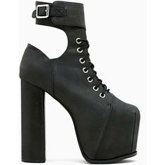 Jeffrey Campbell Hewson Platform Boot ($139) ❤ liked on Polyvore featuring shoes, boots, ankle booties, jeffrey campbell, heels, platform heel boots, lace up heel boots, heeled boots, chunky heel boots and black high heel boots
