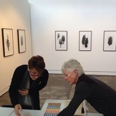 Brenda May and Melinda Le Guay discussing ideas for new work.