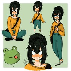 """elinoodles: """" """"Ribbit ribbit. """" Gift for @musabori! We haven't talk in a while…"""