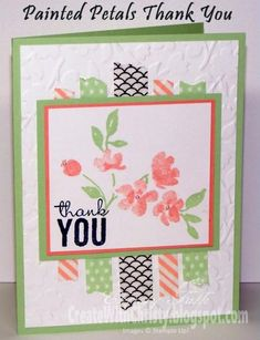 Painted Petals Thank You Card by StampinChristy - Cards and Paper Crafts at Splitcoaststampers