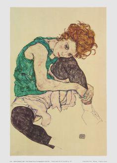 Egon Schiele. Love the color