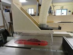 Overarm table saw dust collection on the cheap,  and other goodies