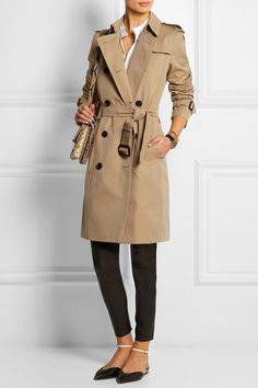 Part of the Burberry Heritage collection Sand cotton-gabardine Button fastenings through double-breasted front 100% cotton; trim: 100% leather (Calf); buttons: 100% horn (Buffalo); body lining: 100% cotton; sleeve lining: 100% viscose Dry clean Designer color: Honey