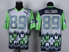 Nike Seattle Seahawks  89 Doug Baldwin Grey Men s Stitched NFL Elite Noble  Fashion Jersey. 7c3eb81b4