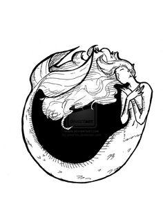 mermaid logo - by SteeKira steekira.deviantart.com