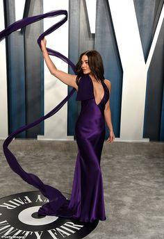 Pick a purple dress like Vanessa in Vera Wang #DailyMail