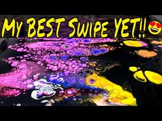 This might be my best swipe yet! I love doing black fluid acrylic swipes as it makes the colors underneath more vibrant when they do pop up. Doing a double s. Fluid Acrylics, Pour Painting, Acrylic Pouring, Abstract Expressionism, Trippy, I Am Awesome, Youtube, Color, Art