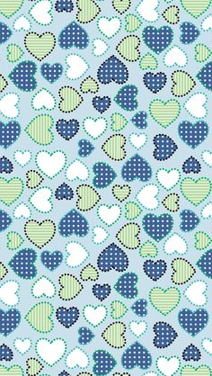 blue green white hearts