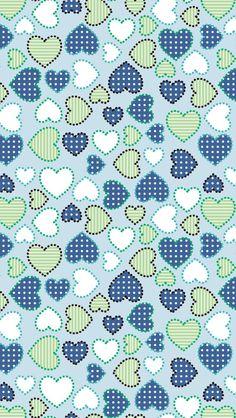 blue green white hearts