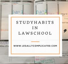 Study Habits in Law School