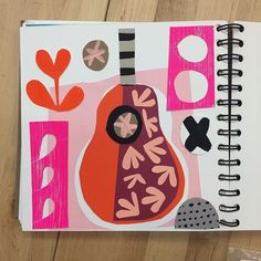 Sketchbook collaging. Playing with layouts and colour. #WilliamHannahUK #sketchbook #drawing #collage #colour www.williamhannah.com