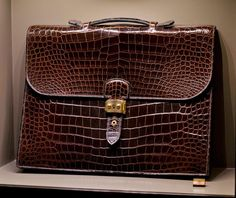 Hermes leather forever exhibition of a heritage brown brief case. I was not able to get the age of this brief case but I suspect we are talking about at least 20-30 years old. (I could very well be...