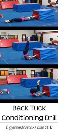 Back to School Outfits Learn a Back Tuck Fast! The Best Drills and Exercises to Learn a Back Tuck Quickly, Safely, and Properly – Gymnastics Rocks! Gymnastics At Home, Gymnastics Academy, Gymnastics Floor, Tumbling Gymnastics, Gymnastics Skills, Gymnastics Coaching, Gymnastics Training, Gymnastics Workout, Gymnastics Stuff