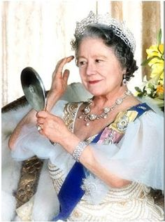 The QM in the Greville tiara, 'I'm ready for my close up, Mr Beaton'