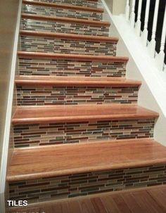 Mosaic Wooden Stairs