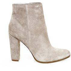 Steve Madden Women's Glorius Booties ($130) ❤ liked on Polyvore featuring shoes, boots, ankle booties, ankle boots, taupe sde, suede bootie, short boots, suede ankle boots, suede boots and high heel ankle boots