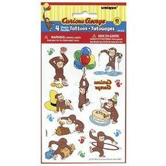 curious george temporary tattoos, love!!