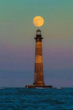Morris Island, S.C. Happy #LighthouseDay #StunningPhotography #CloudyWithAChanceOfWOW!