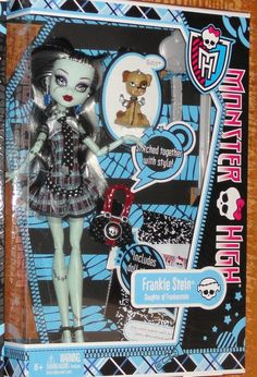 Monster High Doll Frankie Wave 1 Diary Pet Watzit re Release New in Box Basic   eBay
