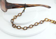 Tortoise Shell Eyeglass Chain  Tortoise shell Eyewear by Maetri