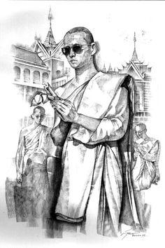 King Bhumipol, King Rama 9, King Of Kings, King Queen, King Thailand, King Drawing, Thailand Tattoo, Bhumibol Adulyadej, Thai Style