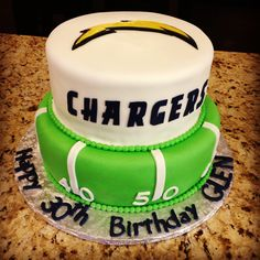 #Chargers Cake