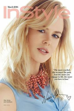 Nicole Kidman in Dior for InStyle