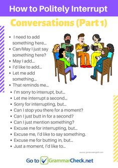 How to Politely Interrupt Conversations (part - New Sites Improve English Speaking, English Learning Spoken, Learn English Words, English Language Learning, English Study, English Sentences, English Phrases, English Idioms, English Grammar