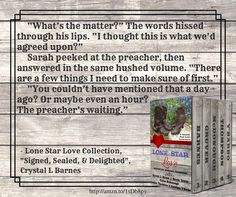 From Signed, Sealed, & Delighted by Crystal L Barnes featured in the Lone Star Love Collection http://amzn.to/245n1ja