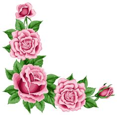 Roses Corner Decoration PNG Clipart Picture