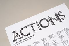 Actions: What You Can Do with the City